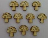 Mushroom - Use for earring stud - EAR028