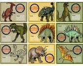 Printable DIY Dinosaur Dino Boys Valentine Cards for kids - Instant download