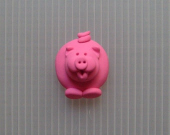 polymer clay chunky little pig