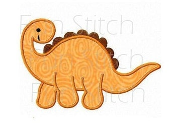 Dinosaur applique machine embroidery design