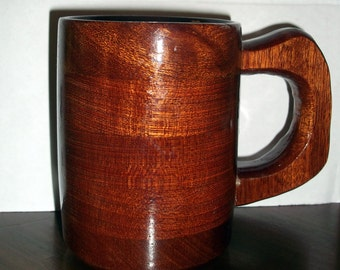 Handcrafted Wood Coffee 8oz Mug Mahogany - Coffee Cup - Wood Coffee Mug - Mahogany Coffee Cup - Mahogany Wood Coffee Mug - Mahogany Mug -Mug