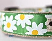 Daisy Dog Collar, Floral Dog Collar, White Daisy Dog Collar, Adjustable Dog Collar, Girl Dog Collar, Spring Summer Dog Collar