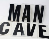 Sign Letters in Black on Clear Plastic