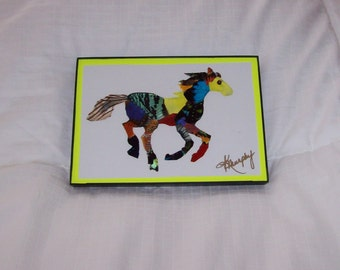 "Real Butterfly Wings Framed "" Pony""  Collage"