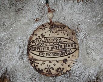 Handmade Ceramic Ornament - North Pole Toy Workshop