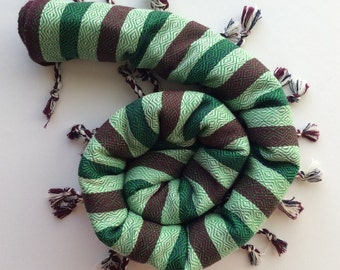 FREE SHIPPING    DAMASQ Fouta towel hamam beach pool yoga spa striped turkish cotton handloomed peshtemal green