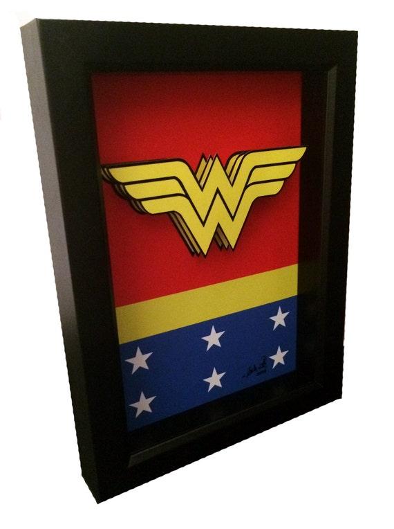 Wonder Woman Logo Artwork 3D Pop Art Comic Artwork Symbol