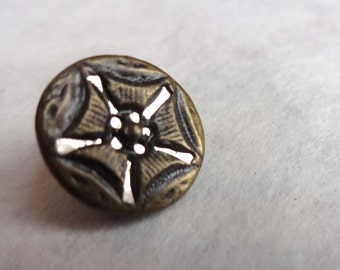 5 Pentagon Twinkle Victorian Mirror Back Buttons
