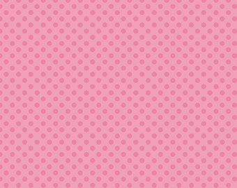 Dots Hot Pink on Pink Small by RBD Designers for Riley Blake, 1/2 yard