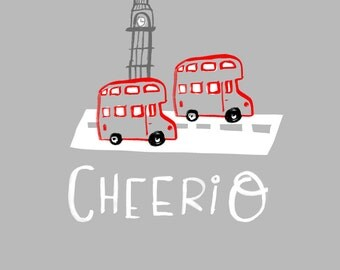 Cheerio London wall art print