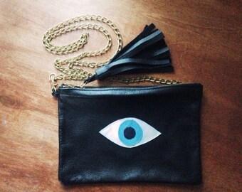 Large Crossbody Evil Eye, All-Seeing Eye Bag