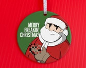 Naughty Christmas Ornament - Santa Censored Holiday Ornament - Christmas Ornament - Funny Gag Gift - Santa holiday ornament - co115