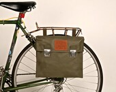 Set of 2- 70s Vintage Swiss Army Messenger Bag Panniers
