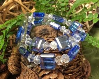 Corsage bracelet - Block Party Bracelet - Sapphire (Blue)
