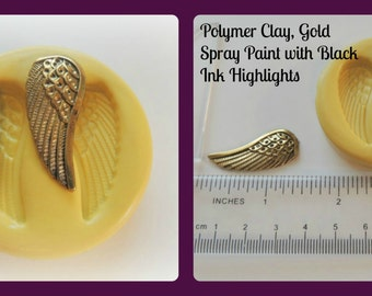 Angel Wings Mold Left Right Clay Resin Fondant Candy Moulds Faux Metal