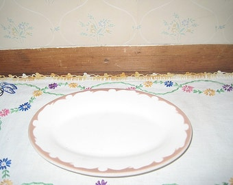 Small Oval Buffalo China Restaurant Ware Platter