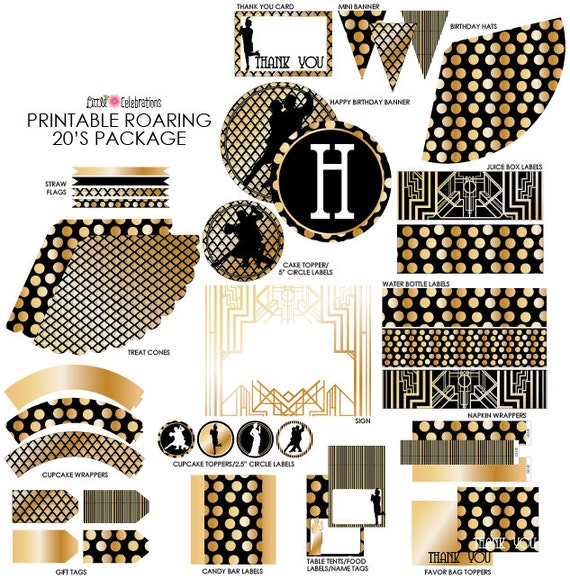 Roaring 20 S Printables Great Gatsby Birthday Party