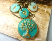 Family Tree and Initials Necklace - Personalized Mother Jewelry - Mother's Day Gift - Layering Tree Necklace -Tree of Life - Layered letter