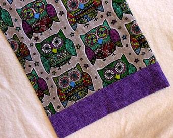 Pillowcase Travel Size Large Floral Owls