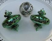 UFO Christmas Ornament - Christmas Tree Decoration - 1950's Plastic - Oak Hill Vintage