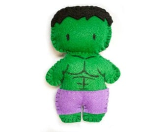 Felt Hulk Plushie Made to Order