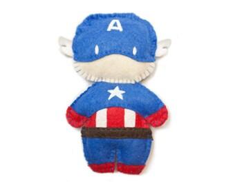 Felt Captain America Plushie Made to Order
