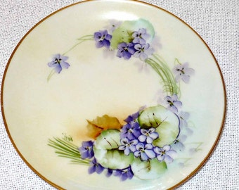Porcelain Bavaria Dish, Signed by Artist, Hand Painted, Home & Living, Collectible