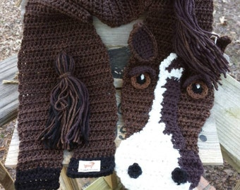 CUSTOM Horse scarf.  CHILD size.  Pics are samples of custom orders.