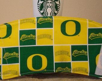 Arti REVERSIBLE Coffee Cup Sleeve,OREGON Ducks College Football Official Logo  green/white