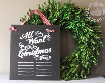 All I want for Christmas is Chalkboard