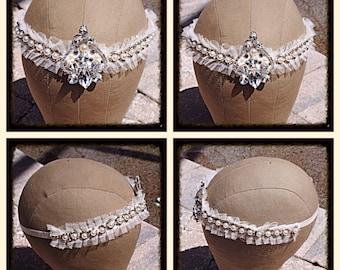 Vintage Style Pearl And Crystal Headband