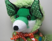 As Irish as shamrocks, green dots and spots,  SEUSSed up to give us, a socks fox named KNOX !