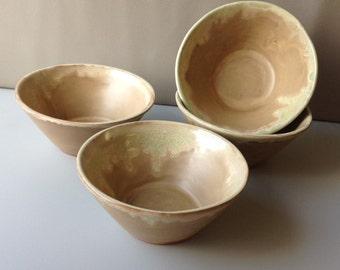 Set of 4 Handmade Earthenware Bowls