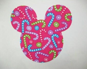 Christmas DIY Iron On Mickey Mouse Fabric Applique - Iron On