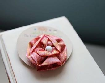 Pink Ruffle Hair Clip