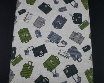 Large Softcover Journal - Packed Up - Japanese Import fabric