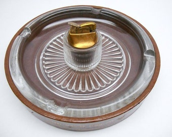 Vintage Leather Ashtray with Lighter , Advertising Astray from Steel Master Tool Co. Ltd