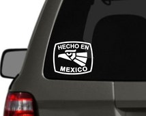 Hecho en Mexico Vinyl Car Decal BAS-0147