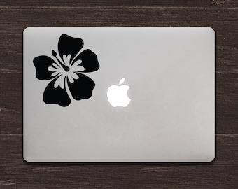 Hibiscus Vinyl MacBook Decal BAS-0286