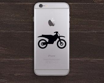 Dirt Bike, Motorcycle Vinyl iPhone Decal BAS-0302