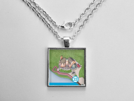 Haunted Mansion Necklace from Walt Disney World Magic Kingdom Park Map