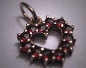 Antique Garnet Pendant for Necklace Victorian Rose Cut