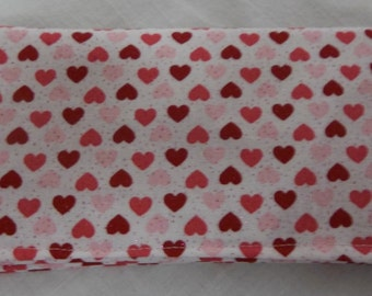 Ladies Checkbook Cover Coupon Holder Clutch Purse Billfold Red Hearts Valentines Day