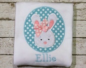 Easter Bunny Easter Shirt, Girl's Easter Shirt,  Coordinating Sibling Easter Shirts