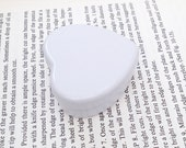 20ml heart shape metal tins in white, small lip balm tin, small jewelry box, small storage box, cute tins (1 tin box)