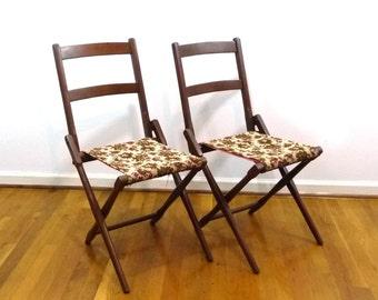 Antique B.J. Harrison Son Co. folding deck chair, wood camp chair