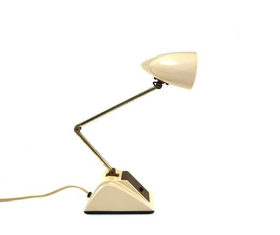 Industrial Lighting Hamilton: Vintage Desk Lamp Hamilton Industries Hinged Portable Lamp