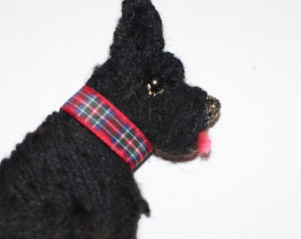 Scotty dog scottish terrier westie Brooch handmade and individual