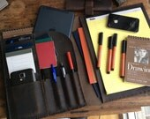 Cafe Writing pad, handmade leather writing pad, leather business folio, iPad case, business organizer, handmade leather folder & portfolios