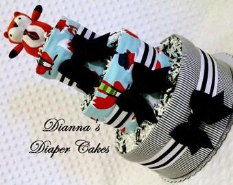 Fox Baby Diaper Cake Shower Gift Centerpiece